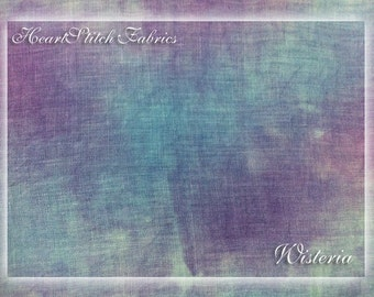 Wisteria - hand dyed linen