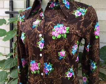 Butterfly collar vintage blouse