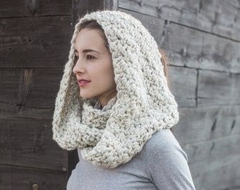 Wool Infinity Scarf // Chunky Circle Scarf // Infinity Cowl // THE EMMA shown in Wheat