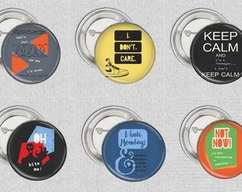 Teen Angst  6 Button Badges or magnets