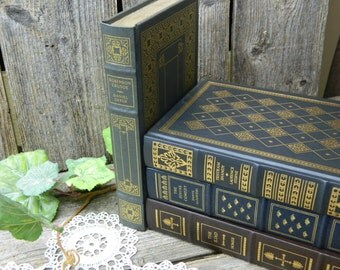 Vintage Gilded Leatherette Book - Robinson Crusoe - Franklin Library