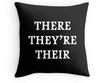 Writer Print, Grammar Quote, Write Quote, Grammar Pillow, Writer Definition, Grammar Print, Writer Gift, Writer Toss Pillow, Writer Quote