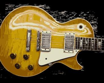 Gibson Les Paul Burst 8 - Custom Printed T-Shirt