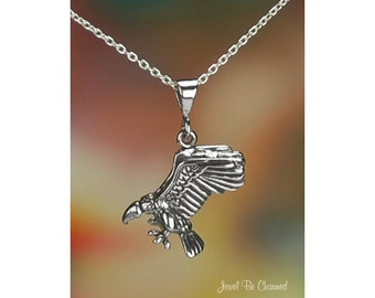 """Sterling Silver Vulture Necklace with 16-24"""" Chain or Pendant Only 925"""