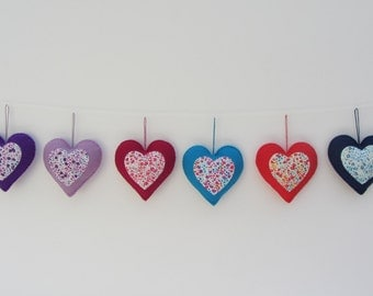 Liberty London Felt Heart Ornament