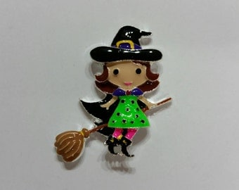 Cute Brunette Witch Needle Minder