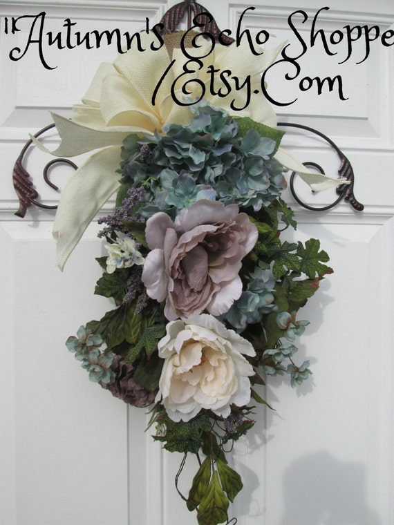 Floral Door Swag Wreath Alternative Door By