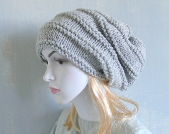 Hand Knit Hat Slouchy Hat Slouchy Women Hat Slouchy Beanie Oversized Hat Chunky Knit Winter Hat Slouchy Beanie Women Knit Hat Hand Knit Hat