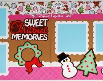 Scrapbook Page Kit Sweet Christmas Memories Cookies Boy Girl Baby 2 page Scrapbook Layout 54