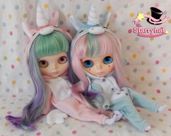 Cute colorful unicorn kigurumi