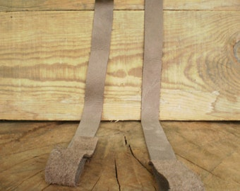 Craft supplies, Leather Handbag Strap, Leather Purse Strap, Pair Leather straps, Leather strap, Leather handles, Bag Straps, Gray leather