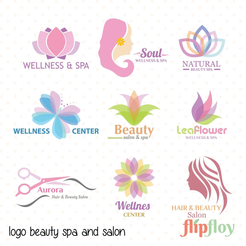 Spa wellness logo  Logo Beauty Spa and Salon Woman Instant Download - 9 Vector Logo ...
