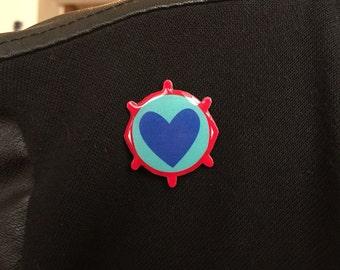 Digital Love Lapel Pin