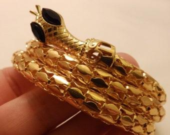 Gold Tone Vintage Snake Bracelet