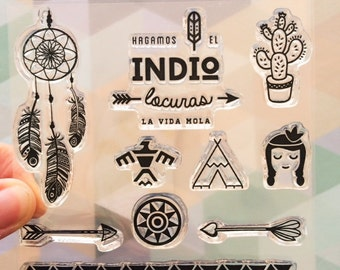 Clear Stamps Indio, in Spanish