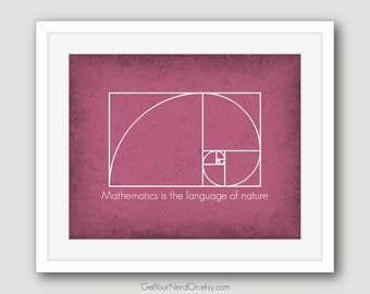 Math Nerd Poster - Wall Art Print - Available as 8x10, 11x14 or 16x20