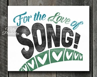 Singer Print - INSTANT DOWNLOAD Singers Art - Song Poster - Singer Gifts - Singing Wall Art - Singer Decor - Singing Gifts - Music Decor
