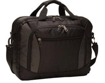 Embroidered Monogrammed briefcase, messenger bag- Free Monogram - Monogrammed Personalized, Bag Bestman, Groomsmen Gifts
