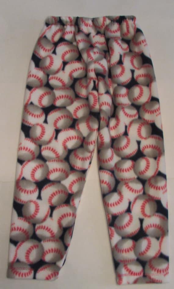 Boys fleece pajama bottoms / football / soccer / baseball / basketball
