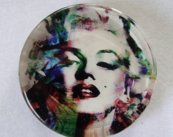 Marilyn Monroe  Cameo,25MM Glass Cabochon, Cabochon,Monroe Cabochon,Jewelry Cabochon