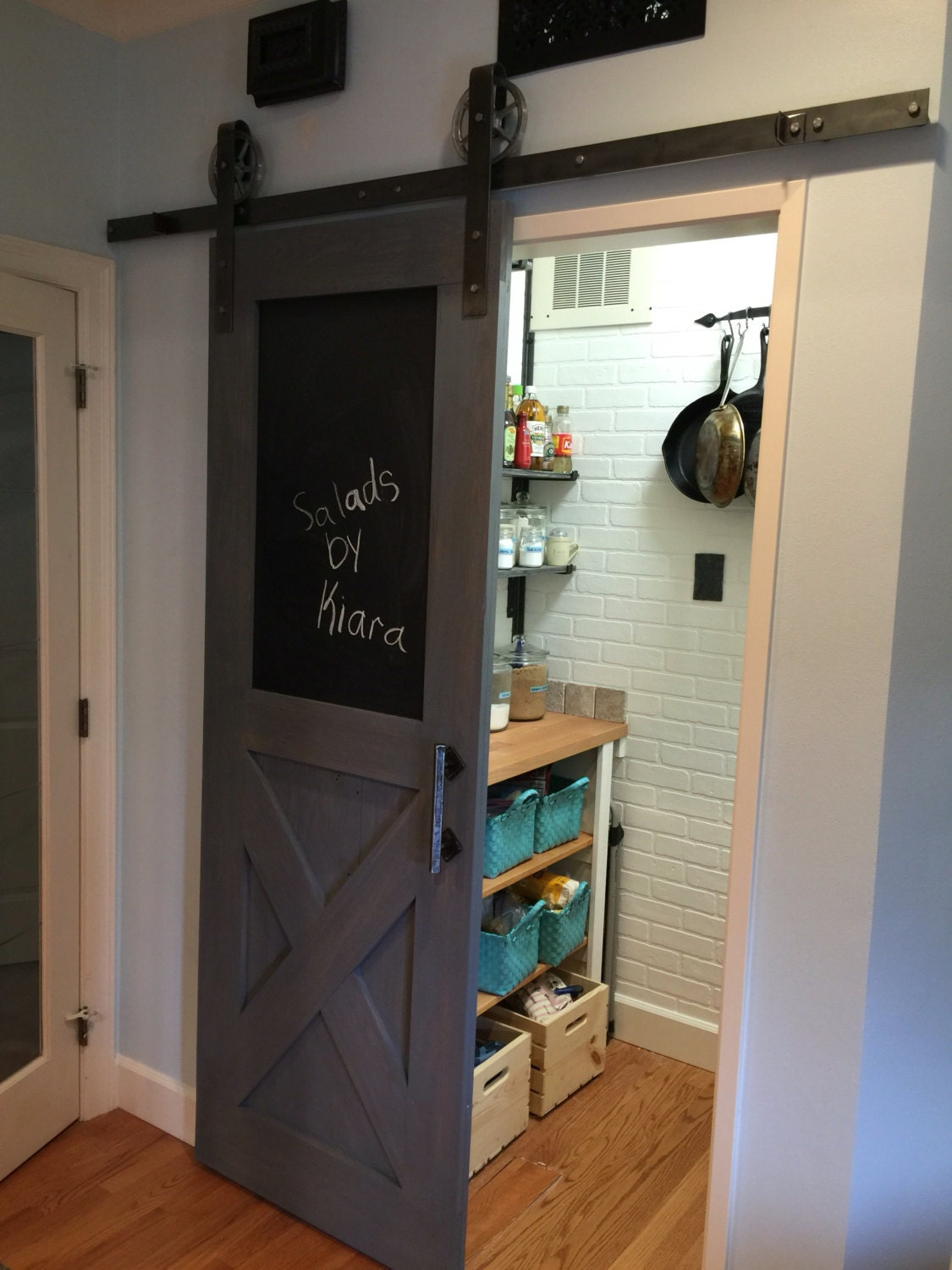 Vintage Farmhouse Chalkboard Sliding Barn Door