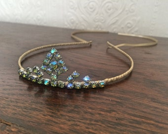 Rhinestone Tiara - a unique handmade tiara - statement piece - perfect for any special occasion