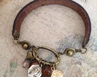 Vintage Mary medal bracelet