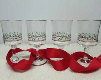 Christmas glasses | Etsy