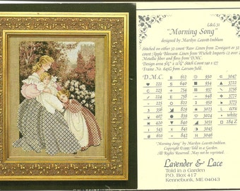 Lavender & Lace:  Morning Song Cross Stitch Chart