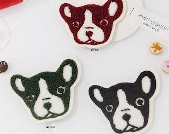 Sew On Wappen Boston Terrier in 3 Colors