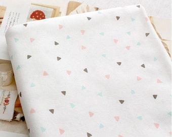 Organic Interlock Knit Cotton Fabric Triangle By The Yard