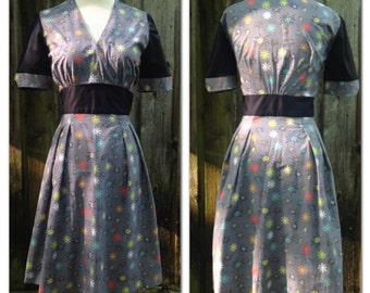 Atomic Starburst Mid Century Retro Dress Medium and Large