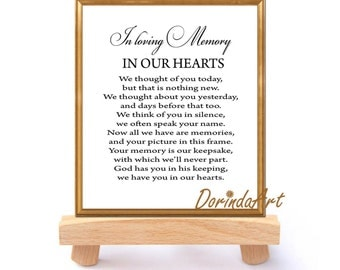 In loving memory of print memorial table wedding memorial sign wedding memorial table in loving memory printable memorial sign memorial quotes we thought of you today pronofoot35fo Image collections
