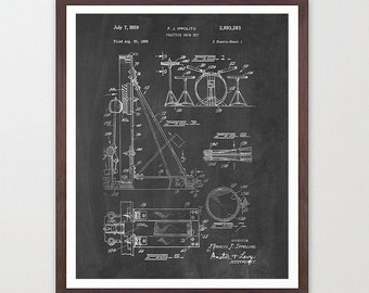 Drumset Patent - Drums - Drummer - Drum Art - Drum Wall Art - Drum Kit - Drum Kit Patent - Drum Set Art - Music Patent - Music Art -Musician