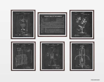 Science Poster Collection - Science Patent - Patent Posters - Chemist - Chemistry - Science Art - Science Wall Art - Microscope Patent