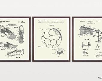 Soccer Patent Set - Soccer Patent - World Cup - World Cup Poster - Soccer Poster - Soccer Wall Art - Soccer ball Patent - Soccer Art