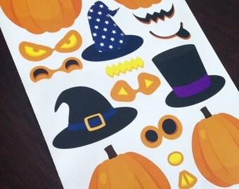 Pumpkin Maker Sticker Set - Halloween Jack O Lantern Activity