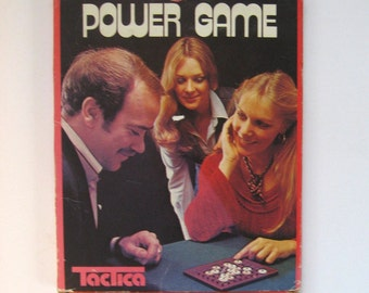 Power Game. vintage game by Tactica. 1975. Game of strategy with gears.