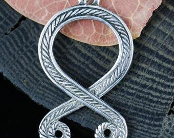 TROLL CROSS Sterling SILVER Pendant Necklace Odal Othala Othila Rune Runes Viking Vikings Norse Charm Ag Trollkors Amulet Talisman Troll's