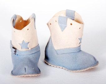 Vintage Baby Cowboy Booties