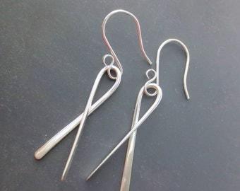 Argentium Silver Earrings, Hypo Allergenic Earrings, Argentium Sterling Silver Earrings Nickel Free Earrings, Eco Friendly Jewelry (#1077)