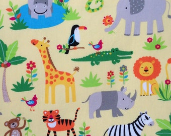 Children's Book/Tote Bag, Jungle Animal Fabric