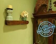 Floating Shelf, FREE SHIPPING, Reclaimed Wood Floating Shelf, Antique Wood, Wood Beam, Floating Shelf, Three Shelves