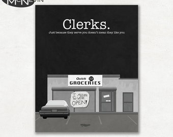CLERKS, Vintage Pop Art Movie Poster, Fine Art Print