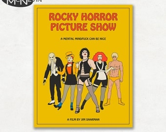 ROCKY HORROR Picture Show Movie Poster, Fine Art Print (Yellow Version)