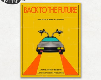 BACK To The FUTURE, Movie Poster, Fine Art Print - Yellow Version