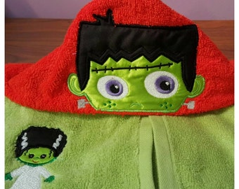 Little Frankenstein Hooded Towel