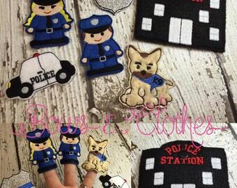 Police Finger puppet set