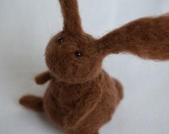 Little Rabbit,Needle Felting,Handmade,OOAK,Bunny,Hare,Gift,Needlefelt,Soft Sculpture,Fibre Art,Miniature,Christmas,Best Friends,Good Luck