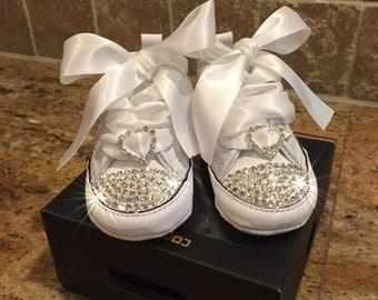Infant crib blinged shoes